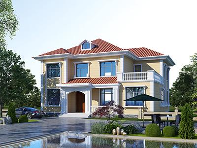 农村二层小洋楼设计图,带外观效果图,外观新颖,漂亮