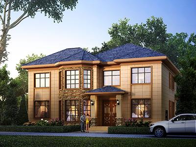 农村25万别墅款式二层自建房设计图,外观简约大气