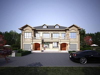 农村二层别墅设计图,带外观效果图,带车库兄弟自建推荐