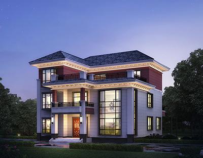 新农村三层房屋设计图占地170平方米,含外观效果图