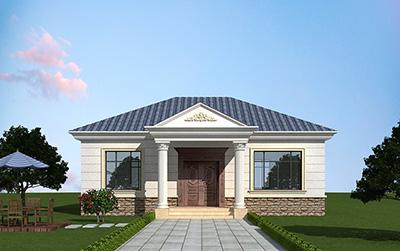 经济型实用欧式一层小楼房别墅平房设计图