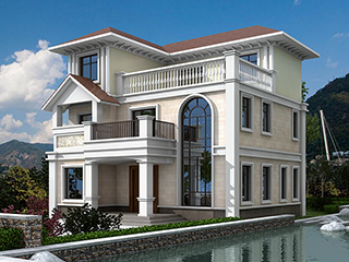 三层新农村小别墅全套设计图纸施工图BZ313-简欧风格