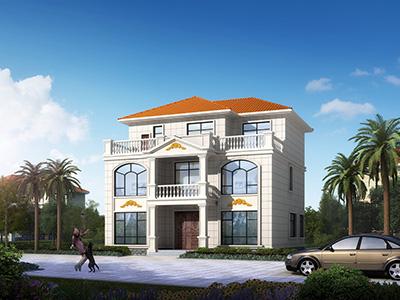 乡村三层别墅CAD建筑设计图,154平方米户型,带效果图和全套