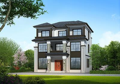 新农村房屋设计图纸,新中式效果图,3层住宅设计