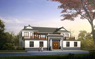 中式四合院别墅设计图占地400平方