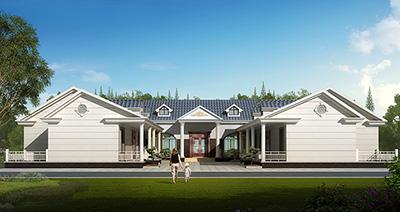 农村豪华小自建房一层别墅设计图纸