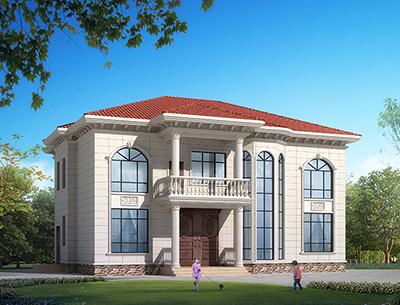 二层复式小别墅设计图,楼中楼结构,外观漂亮,简单