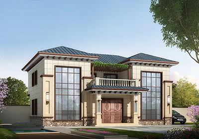 二层新农村170平方米小双拼房屋设计图纸,全套施工图及效果图