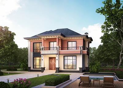 二层农村房屋设计图纸,带效果图和全套施工方案图