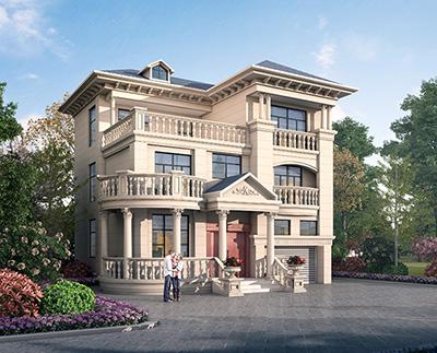 农村30万别墅款式三层设计图纸 11X11米