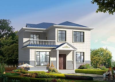 农村最好看两层小楼图 造价25万BZ2524-简欧风格