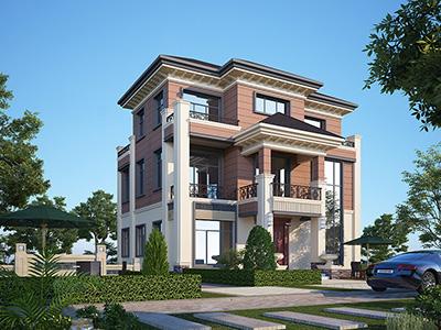 漂亮的农村新中式别墅设计图 造价40万