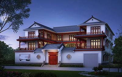 豪华古建四合院设计图和效果图 有堂屋