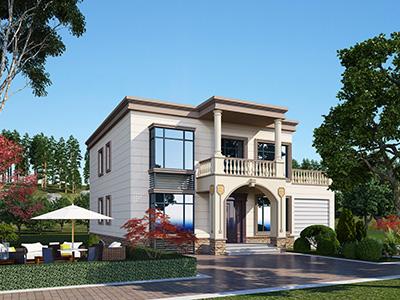 二层欧式别墅设计施工图纸 13X13米