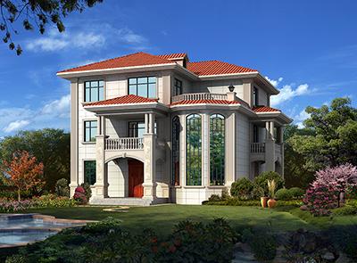 最新2020年款三层农村自建别墅设计图及效果图纸