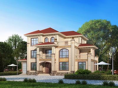三层别墅设计图纸及效果图大全 欧式风格