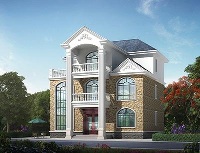 农村占地120平米三层房屋设计图