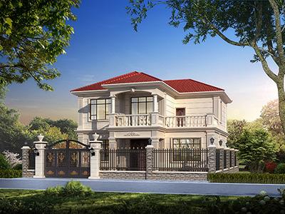 农村二层自建房外观效果图 造价30万
