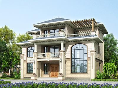 漂亮的农村三层楼房新款图纸 造价50万