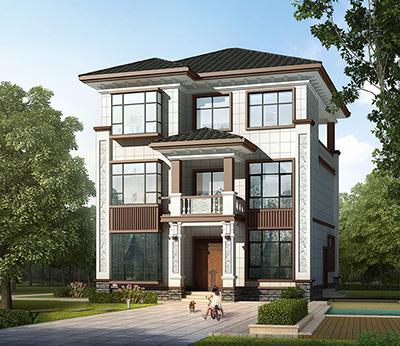 占地100平方米的三层独栋别墅设计图,小户型自建房图纸