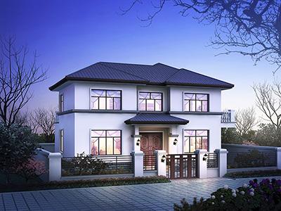 现代二层楼房设计图和外观图片 造价30万