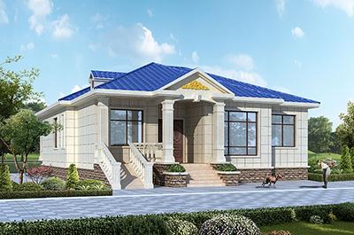 农村一层房屋设计图 欧式别墅效果图