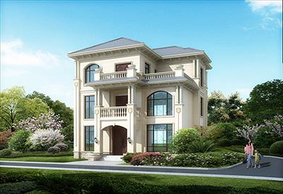 欧式三层别墅设计图纸及效果图大全