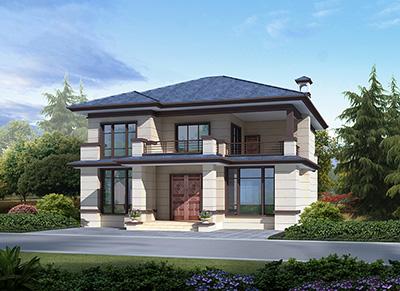 农村二层中式别墅户型外观效果图