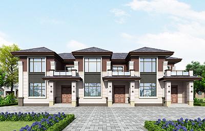 二层中式三拼房屋设计图纸 豪华大气上档次