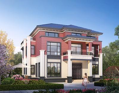 中式别墅设计图片大全 平面图BZ3539-新中式风格
