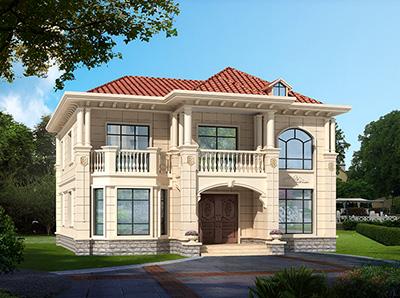 二层房屋设计图片大全 造价30万