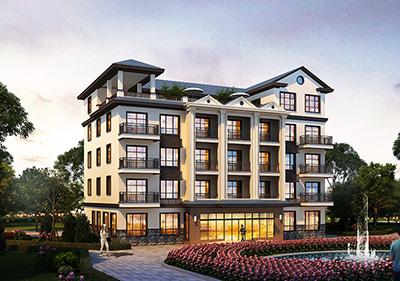 豪华酒店自建房设计图纸 占地440平方