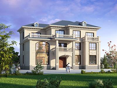 农村三层楼房设计图纸及效果图 18X14米BZ3541-简欧风格