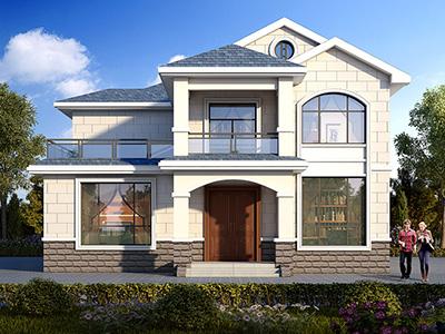 农村30万别墅款式二层自建房设计图,外观简约大气