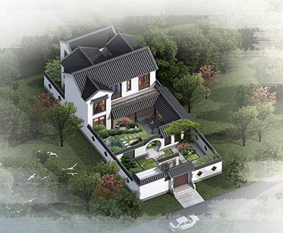 农村四合院设计图纸及效果图大全 景观设计