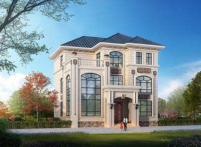 农村三层欧式复式最新别墅设计图 11x12米