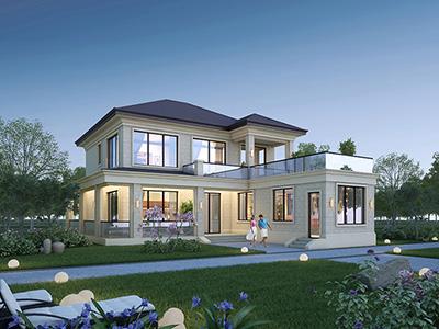 二层现代风别墅设计图纸 造价30万