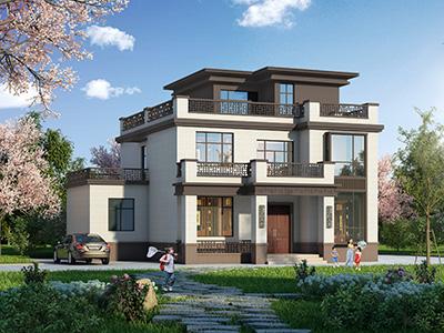 三层中式别墅设计图纸及效果图大全 造价30万