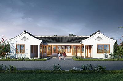 乡村古典一层别墅设计图BZ134-新古典风格