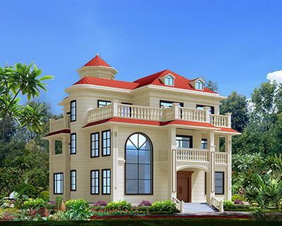 豪华欧式三层别墅住宅设计图纸