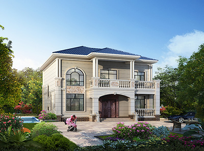 二层欧式别墅图纸大全 造价30万