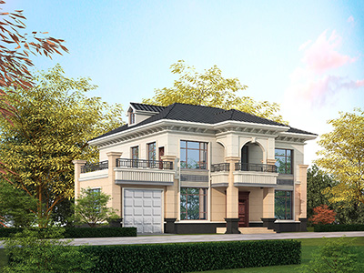 农村房子设计图纸及效果图大全 二层别墅带车库