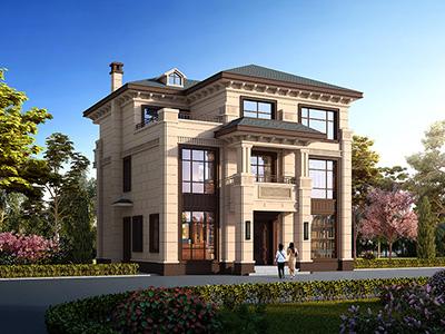 乡村三层中式别墅设计图纸 造价40万