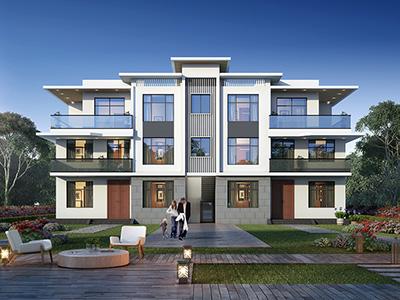 漂亮的三层现代简约风格别墅设计图纸