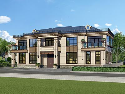 新中式别墅设计图纸及效果图大全BZ2570-新中式风格