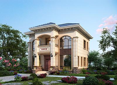 二层简欧小型别墅设计图 10X10米