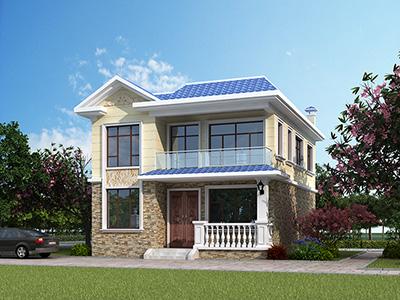 农村二层楼房设计图 欧式自建房BZ2569-简欧风格
