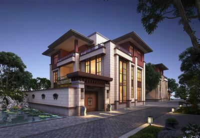 新中三层别墅设计图带电梯房屋设计图大全