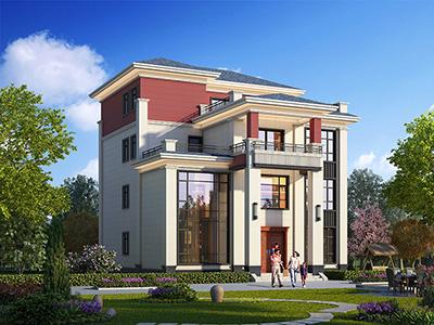 中式四层楼房设计图农村自建房