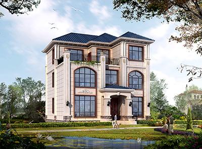 农村三层楼房设计图纸及效果图120平米BZ3630-新中式风格